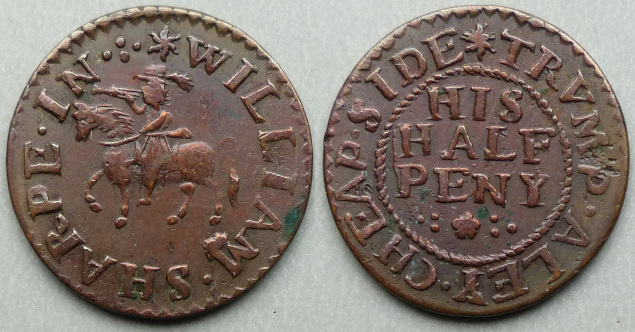 Trump Alley, William Sharpe halfpenny token
